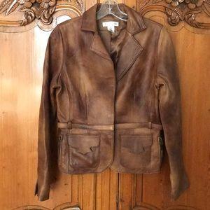 White House Black Market Genuine Leather Jacket